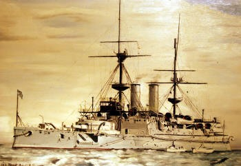 Photograph of a battleship